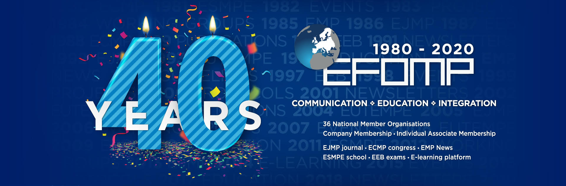 Celebrating the 40th Anniversary of EFOMP