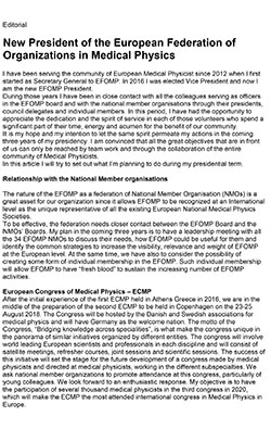 EFOMP president editorial
